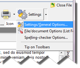 Changing General Settings in WhizFolders