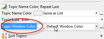 change window color for many notes