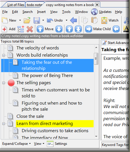 Outliner with Word Compatible RTF