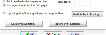 save print settings for notes